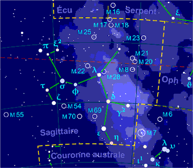 Sagittarius constellation map-fr.png - Wikipedia Commons